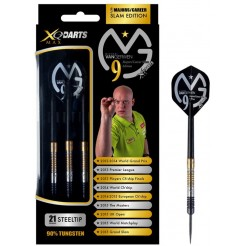 XQ Max Michael van Gerwen 'career slam' Dartpijlen 19 grams 90% Tungsten